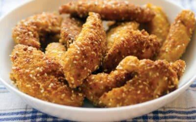 Kippenvingers in de oven gebakken