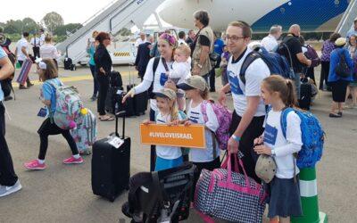 Israël verwelkomt laatste Aliyahvlucht uit de VS voordat Rosh HaShana aanbreekt
