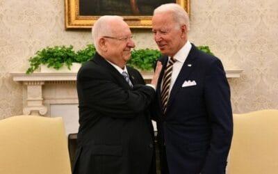 President Rivlin brengt bezoek aan Washington, D.C.