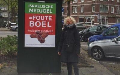 100 borden geplaatst in Rotterdam: koop geen apartheid!