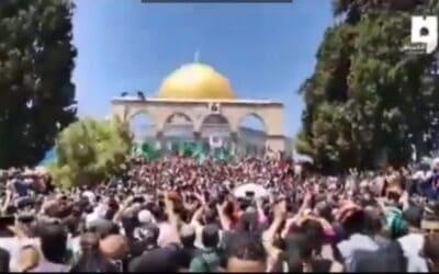 Op dit moment is sprake van een explosieve situatie in Jeruzalem