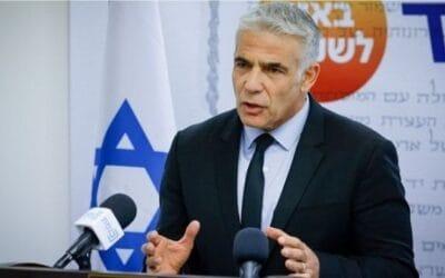 Minister Lapid verklaart steun voor tweestatenoplossing tegenover EU-ministers van Buitenlandse Zaken