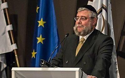 Europese Opperrabbijn waarschuwt voor toenemende antisemitisme