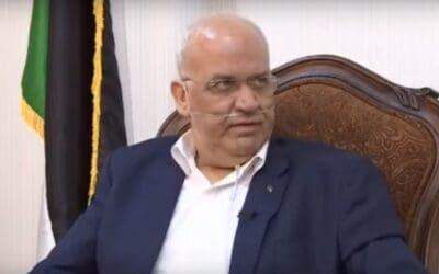 BREAKING: Jewish Defense League meldt overlijden Palestijnse leider Saeb Erakat