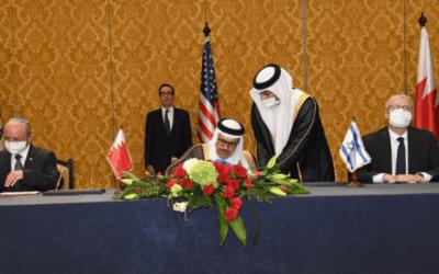 Israël en Bahrein ondertekenen overeenkomst