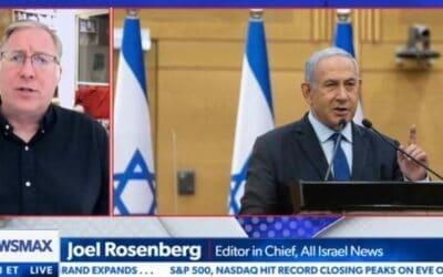 Netanyahu is de beste premier die we hebben gehad sinds David Ben-Gurion', vertelt Rosenberg aan Newsmax TV en vertelt over historische prestaties