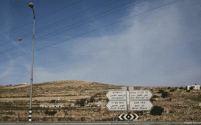 Nieuwe wegen en spoorlijnen voor Judea en Samaria