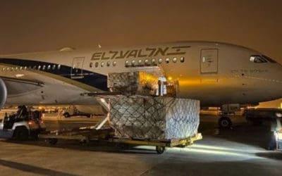 Goed nieuws: Het eerste vliegtuig met medische apparatuur arriveert vanuit China in Israël